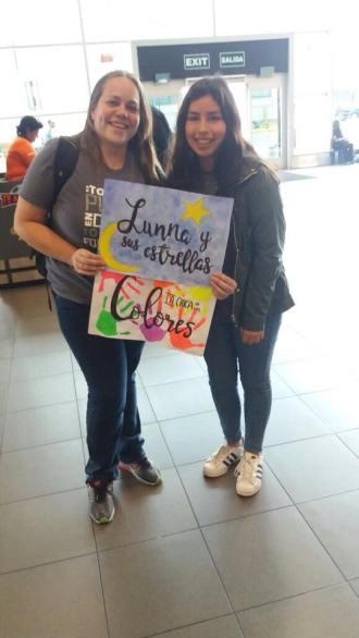Encuentro con estrellitas peruanas, noviembre en el aeropuerto de Lima 2017